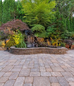 commercial landscape options with K&W Greenery. Hardscape and softscape options